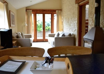 Lake View Living Area at Little Dunley Cottages