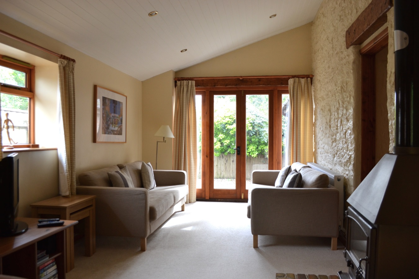 Lake View Lounge at Little Dunley Cottages