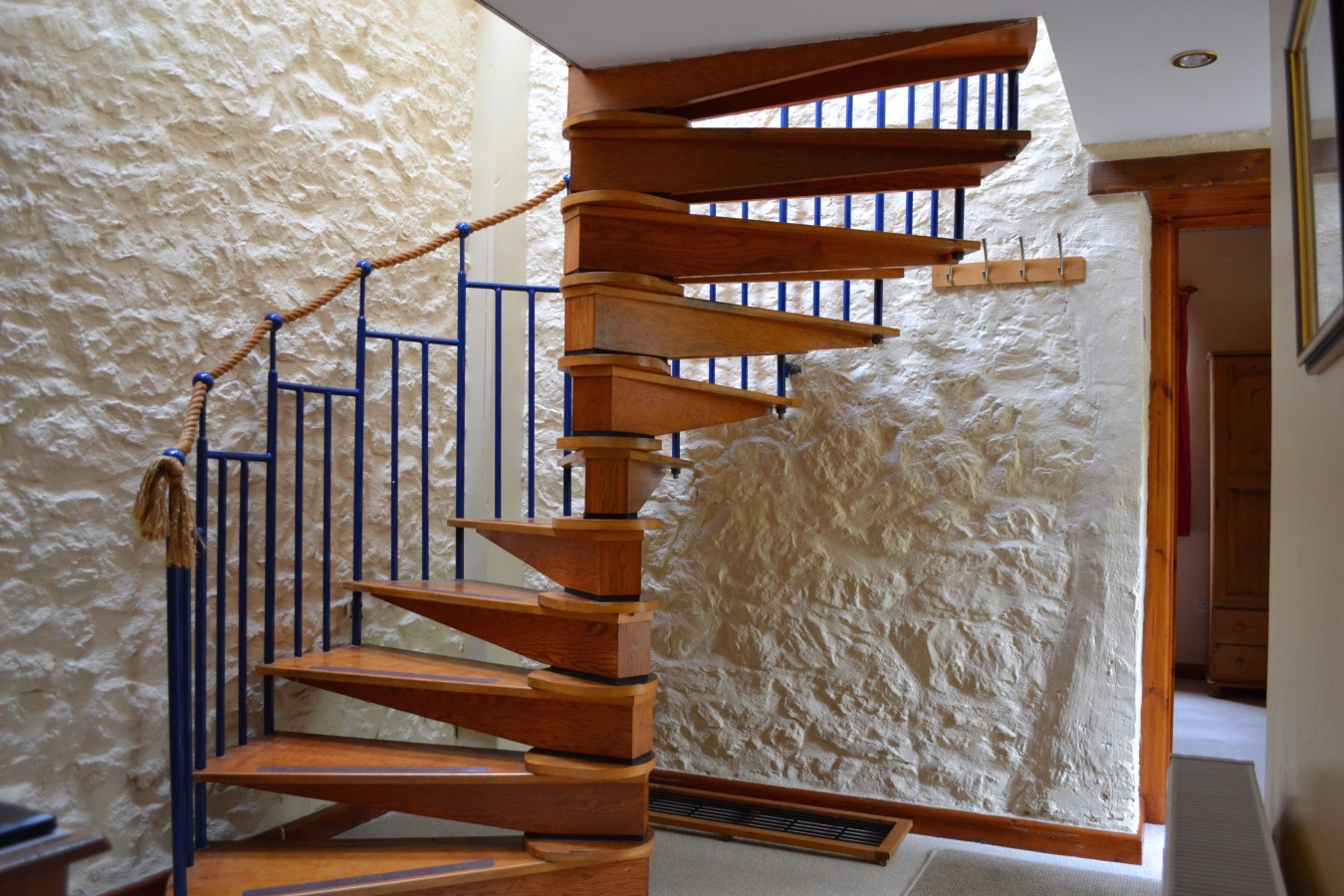Lake View Spiral Staircase at Little Dunley Cottages