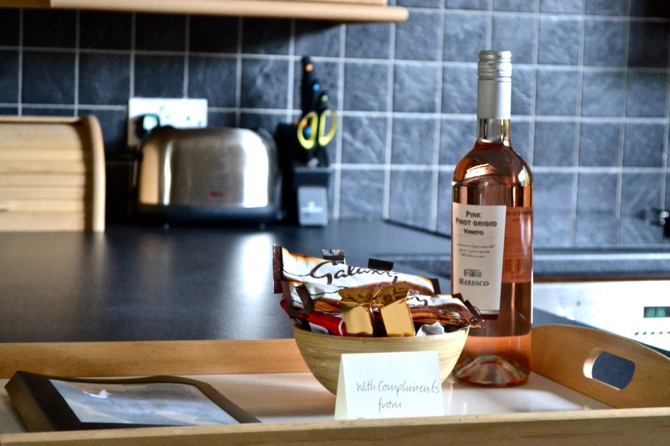 Lake View Welcome Tray at Little Dunley Cottages