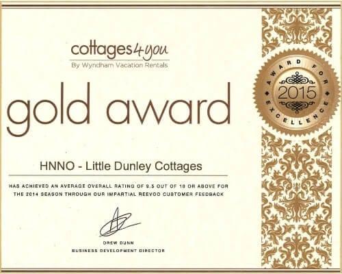 Little Dunley Cottages Devon - Award