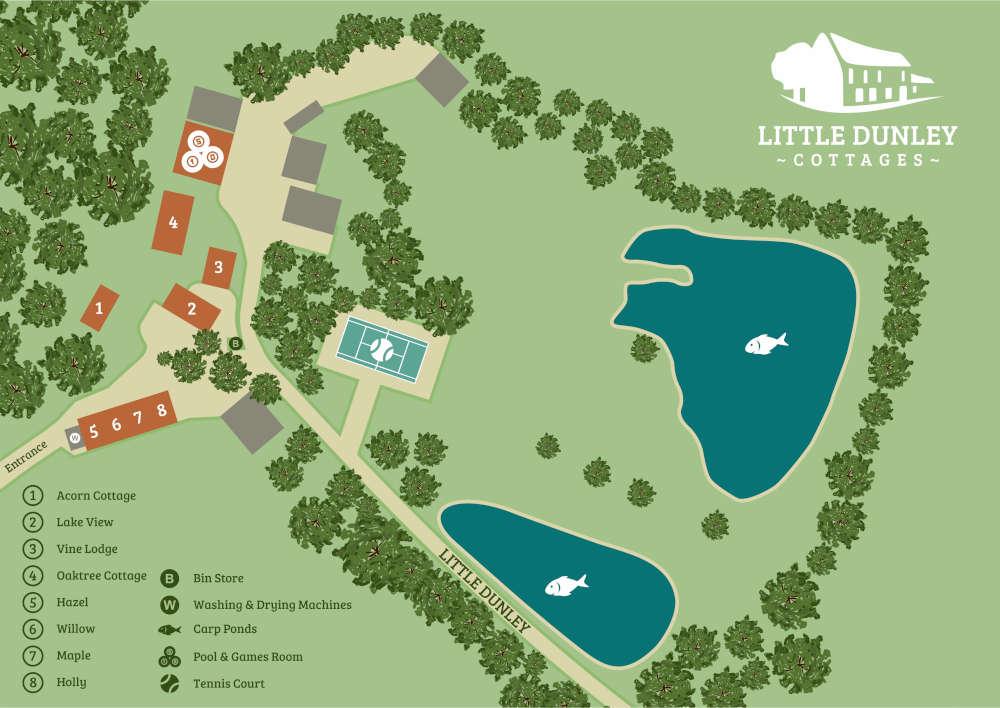 Devon Holiday Cottages - Site Map 1 - Little Dunley Cottages