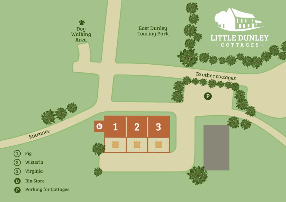 Devon Holiday Cottages - Site Map 2 - Little Dunley Cottages