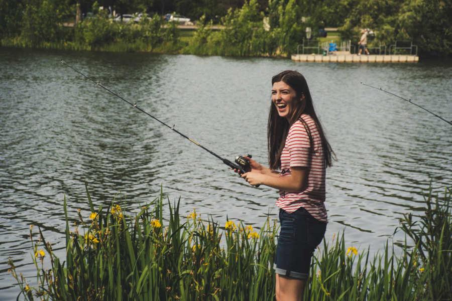 Hazel Cottage Devon - Fishing Lake - Little Dunley Cottages
