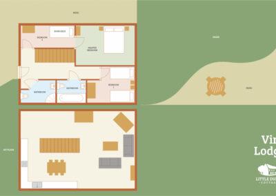 Vine Lodge Holiday Cottage Devon - Cottage Floorplan - Little Dunley Cottages
