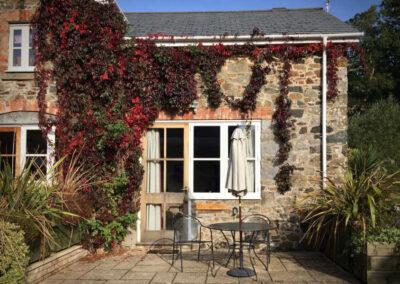 Virginia Cottage Devon - Outside Seating - Little Dunley Cottages