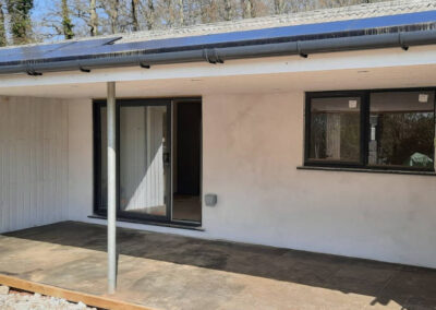 Willow Holiday Cottage Devon - Rear Patio - Little Dunley Cottages