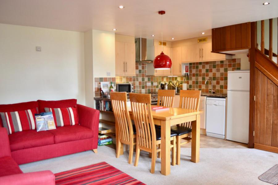 Wisteria Cottage Devon - Kitchen Living - Little Dunley Cottages